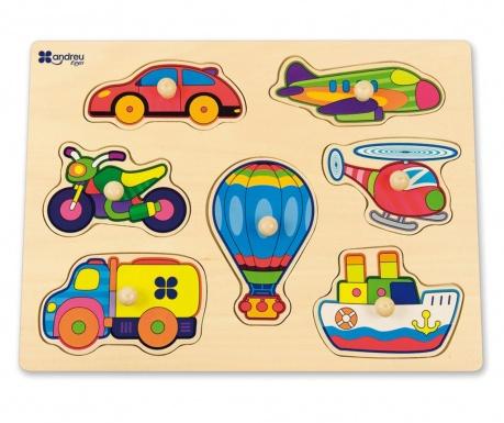 Joc tip puzzle 7 piese Transport