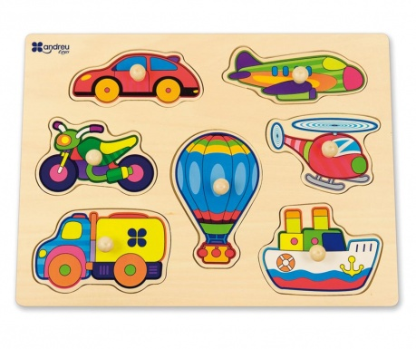 Gra typu puzzle 7 elementów Transport