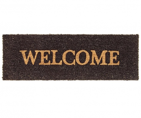 Welcome Black Bejárati szőnyeg 25x75 cm