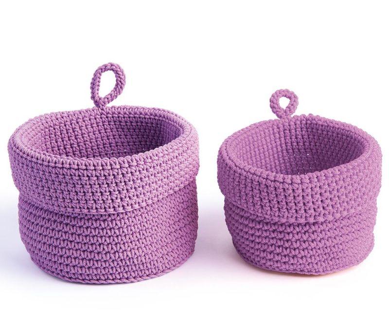 Set 2 cosuri Round Lilac