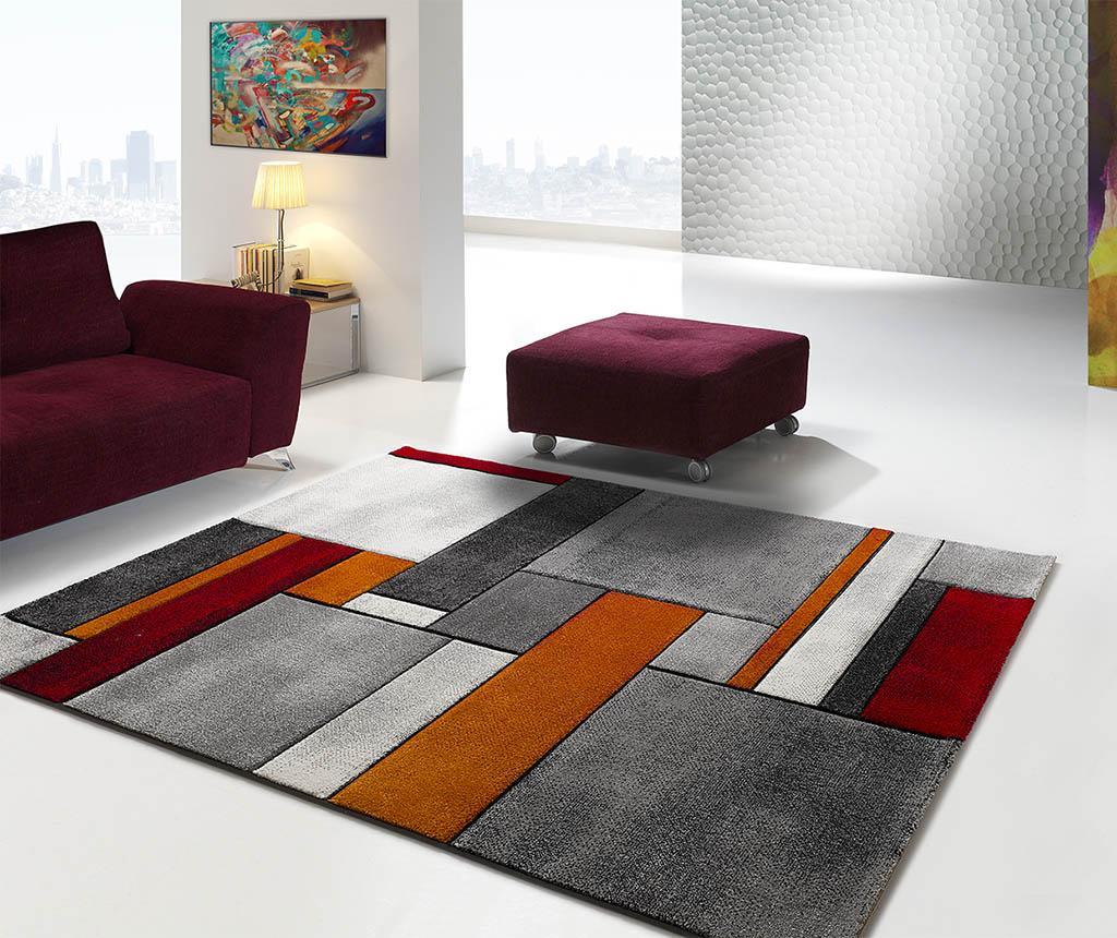 Covor Malmo Blocks Grey 140x200 Cm - Universal Xxi, Gri & Argintiu