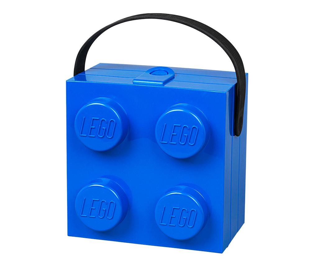 Cutie pentru pranz Lego Handle Blue - LEGO Storage, Albastru