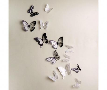 Zestaw 18 naklejek  3D Black & White
