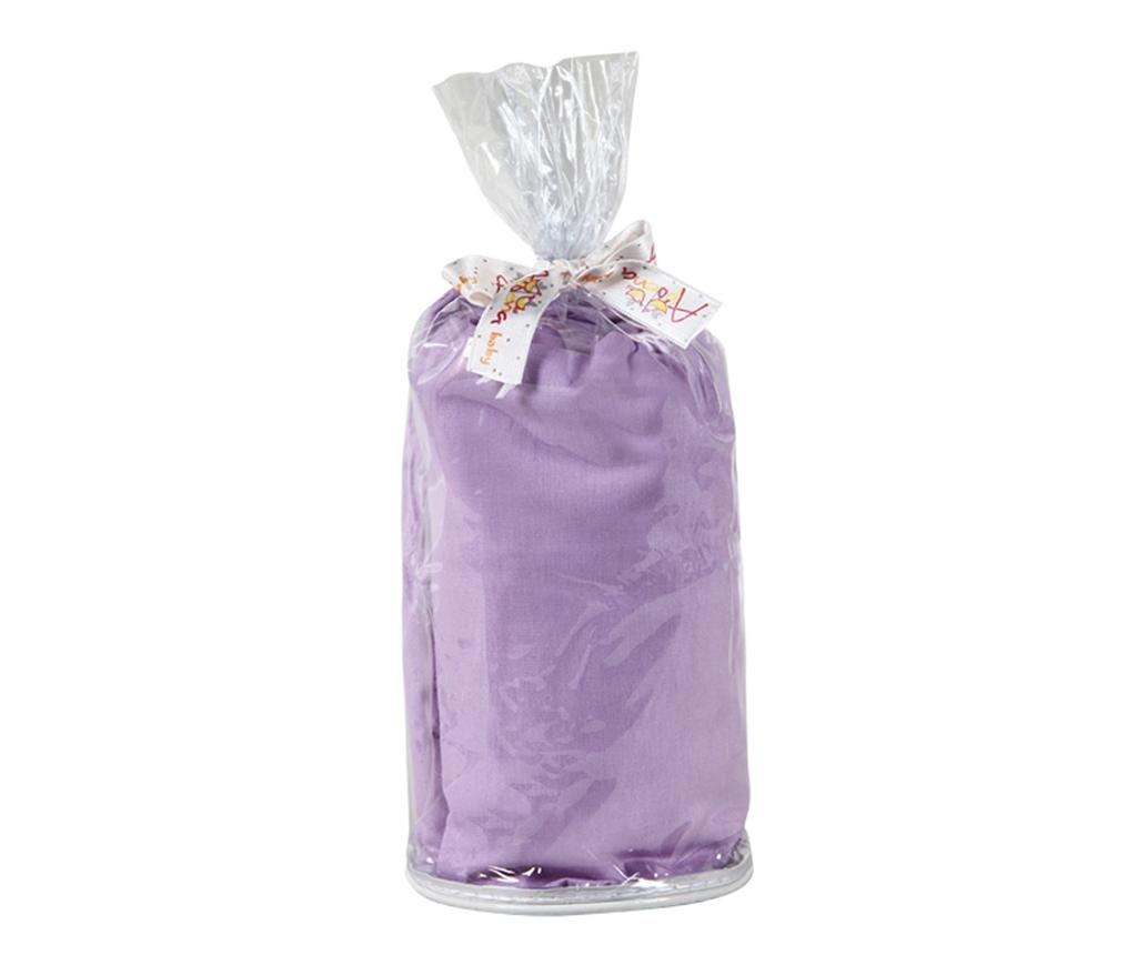 Cearsaf de patut cu elastic Ranforce Baby Purple 70x140 cm