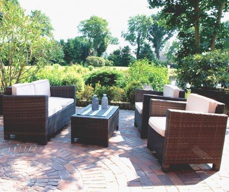 Czteroczęściowy zestaw mebli ogrodowych Coffe