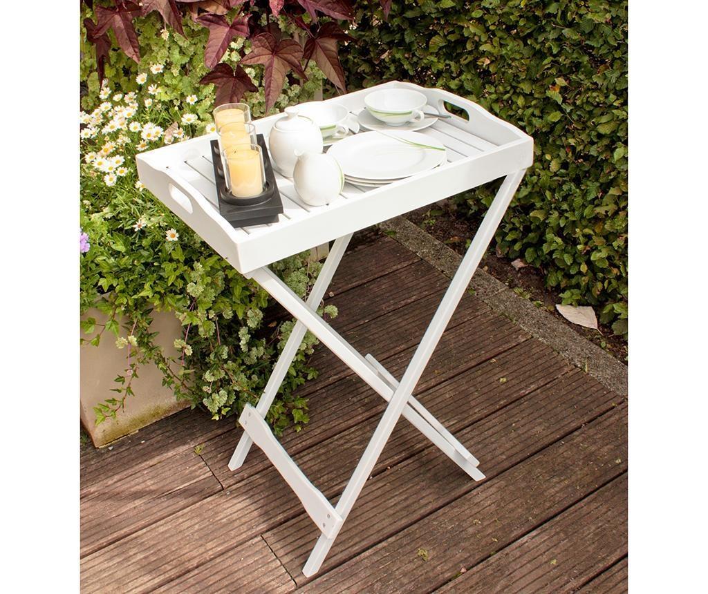 Vrtna zložljiva miza s pladnjem Milton