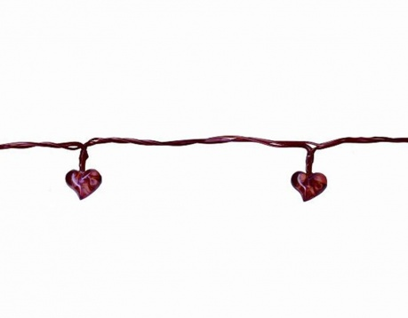 Светеща гирлянда Heart Red