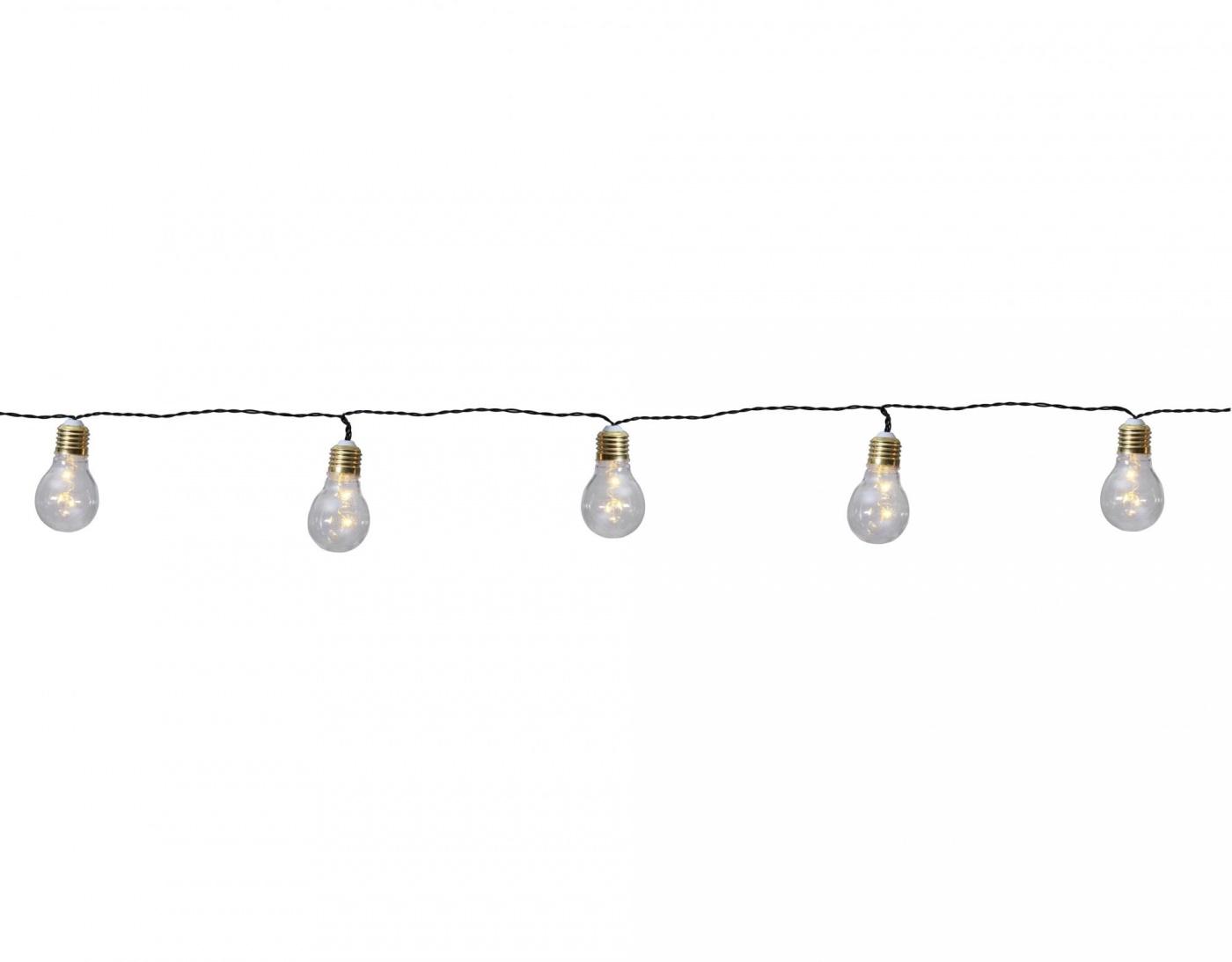 Ghirlanda luminoasa Silver Bulbs 100 cm