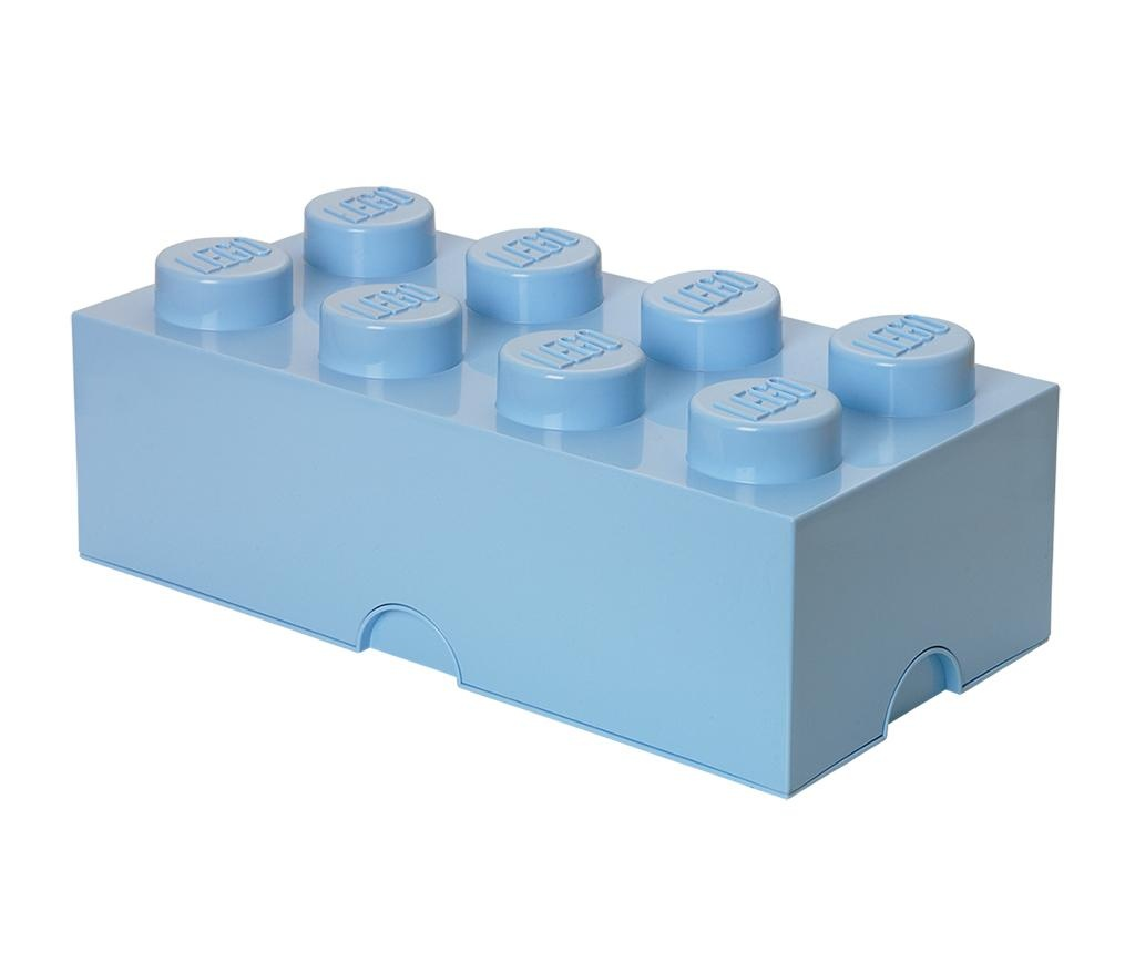 Škatla s pokrovom Lego Rectangular Pale Blue