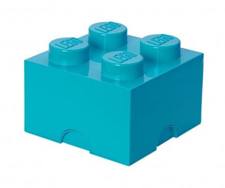 Kutija za pohranu s poklopcem Lego Square Four Azur
