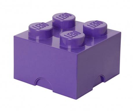 Cutie cu capac pentru depozitare Lego Square Four Liliac