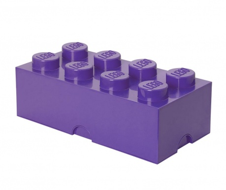Кутия с капак Lego Rectangular Extra Light Lilac
