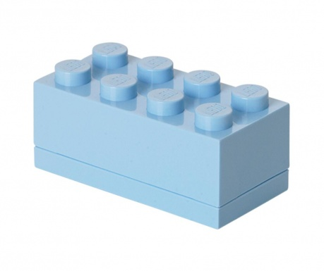 Кутия с капак Lego Mini Rectangular Light Blue