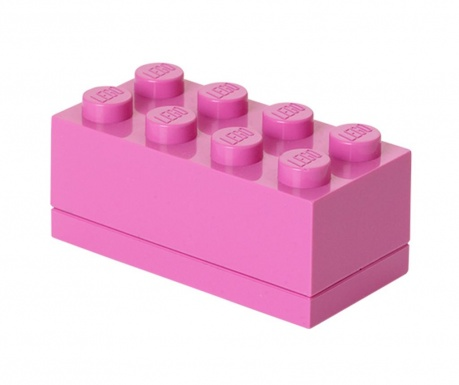 Kutija s poklopcem Lego Mini Rectangular Purple