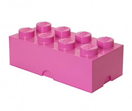 Lego Rectangular Extra Pink Tárolódoboz fedővel