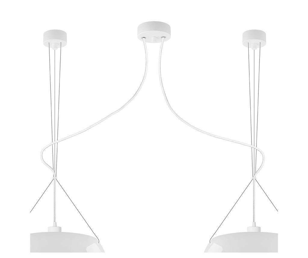 Luster visilica Momo Double Glossy White