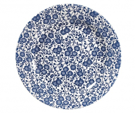 Set of 6 large plates Little Blue Flowers