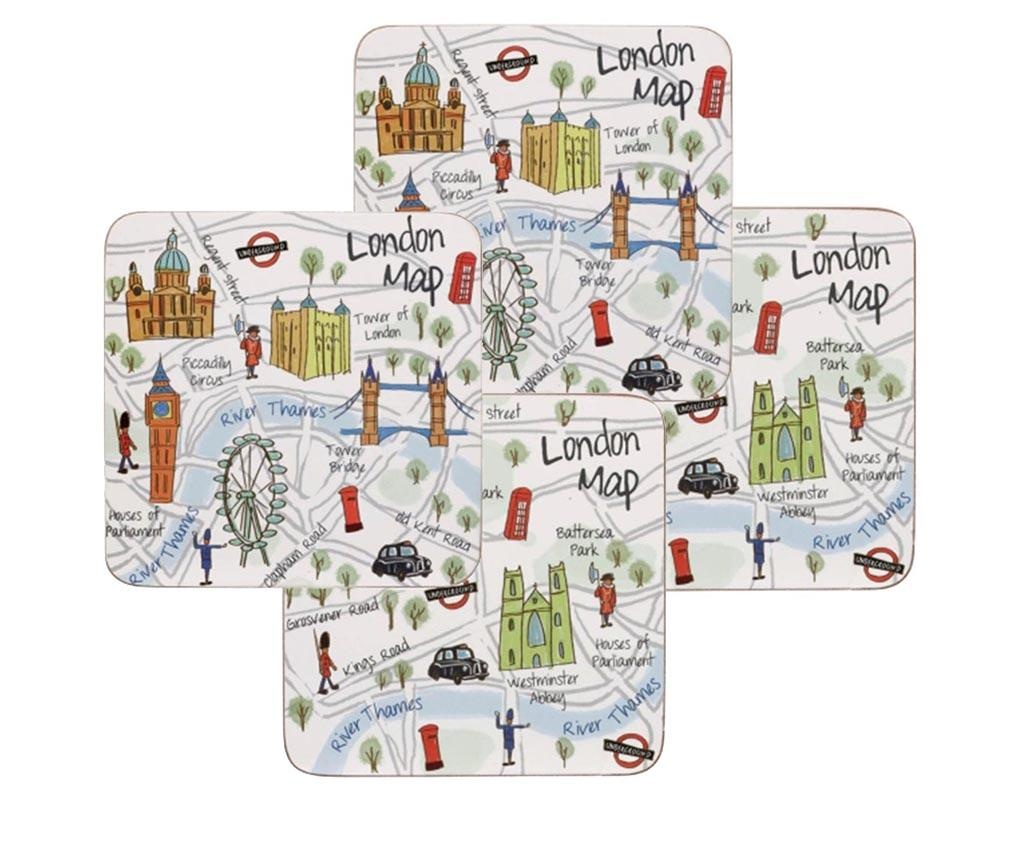Set 4 podmetača London Travel