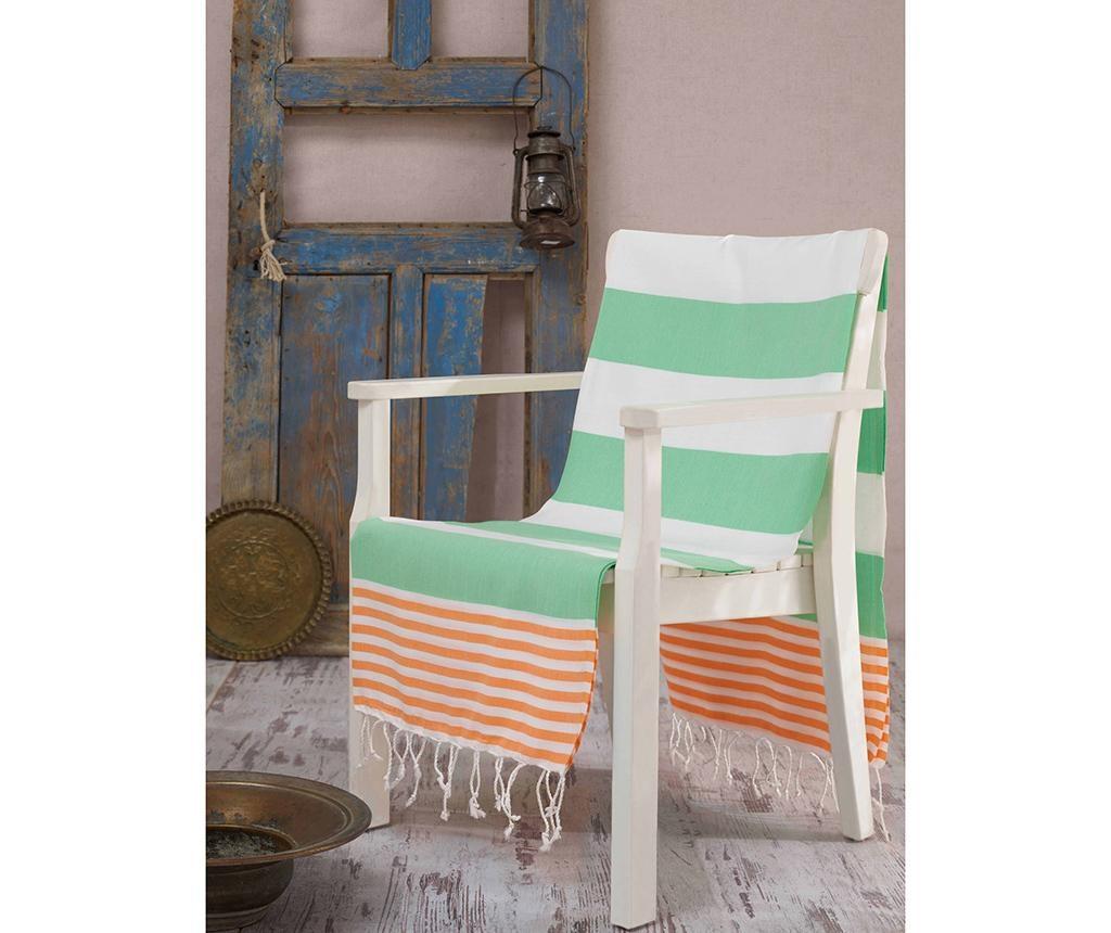 Ručnik za plažu Fouta Antalya Green 100x180 cm