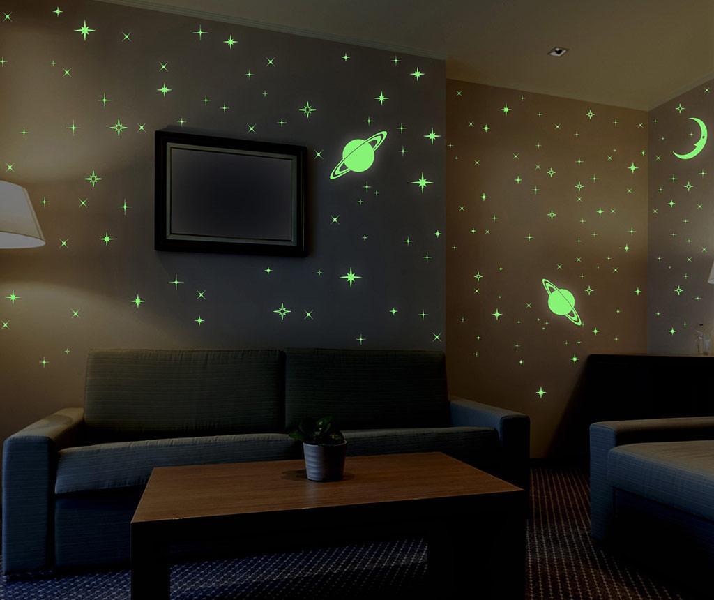 Sticker fosforescent Stars and Moons - BeeStick, Verde