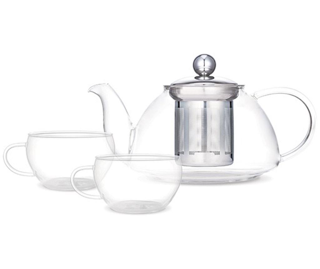 Set ceainic cu infuzor si 2 cesti Apollo - Luigi Ferrero, Alb