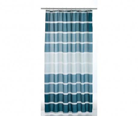 Завеса за баня Stripes Blue 180x200 см