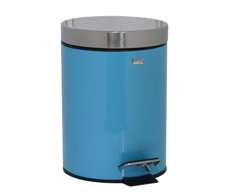 Cos de gunoi cu capac si pedala Messina Turquoise 3 L