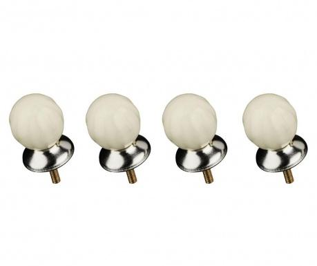 Set 4 gumbov za predale Retro Ivory