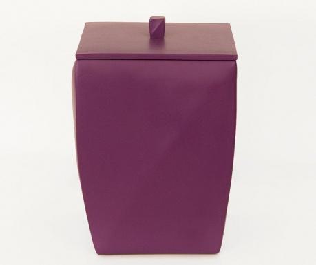 Cos de gunoi cu capac Karya Purple 5 L