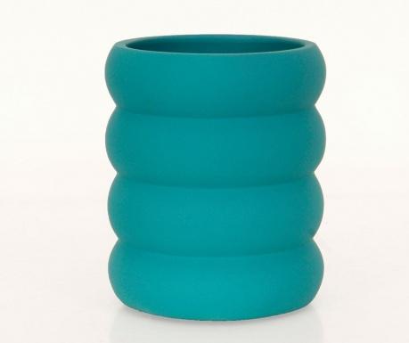 Pohár na zubné kefky Waves Turquoise