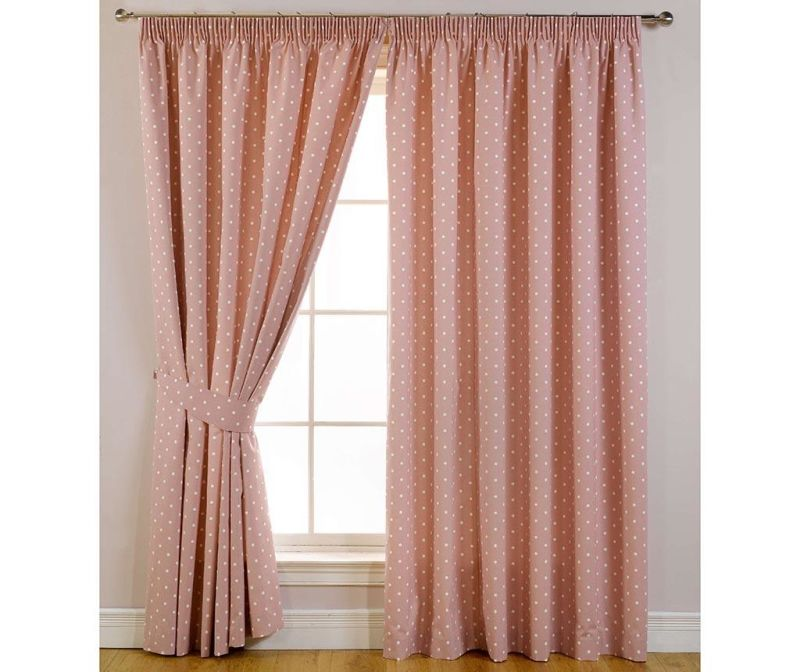 Set 2 draperii Dotty Rose 168x183 cm