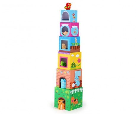 Set pentru construit 12 piese Building Blocks