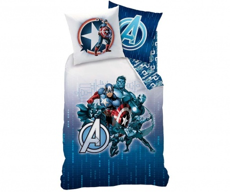 Posteljina Single Ranforce Avengers Blue Code