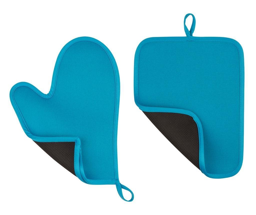 Set - kuhinjska rokavica in prijemalka za vročo posodo Catch Blue