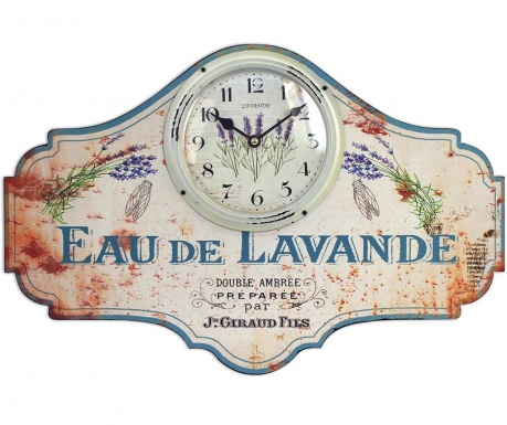 Nástěnné hodiny Eau de Lavande
