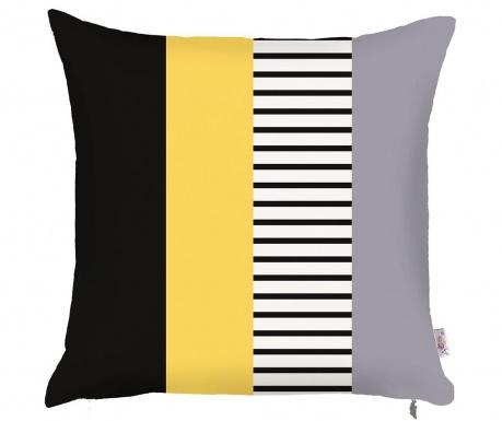 Prevleka za blazino Stripe Yellow 43x43 cm