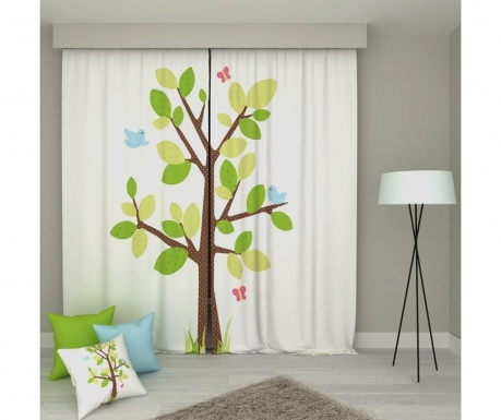 Set 2 zastorov Tree Center 140x250 cm