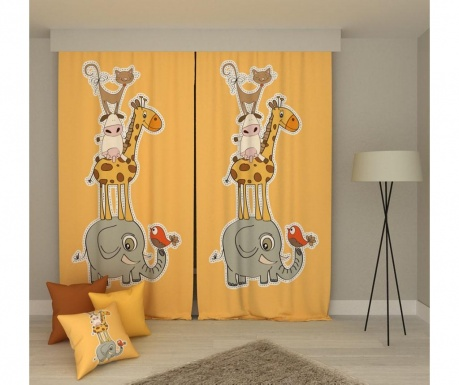 Set 2 zastorov Animals 140x250 cm