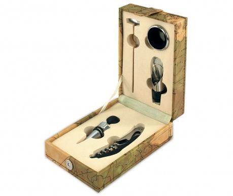 Set 5 accesorii pentru vin si cutie Nate