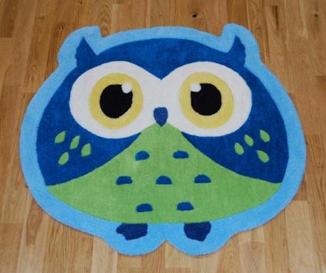 Covor Owl Blue 80x80 cm