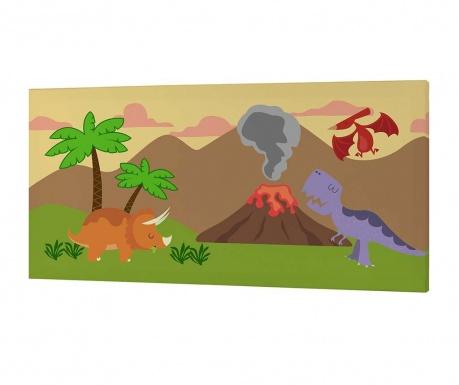 Tablou Dino Land 27x53 cm