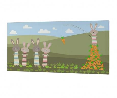 Картина Carrots Eaters 27x53 см