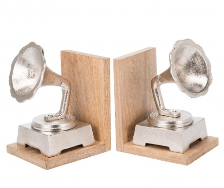 Set 2 suporturi pentru carti Gramophone