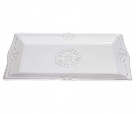 Platter Long White Lace