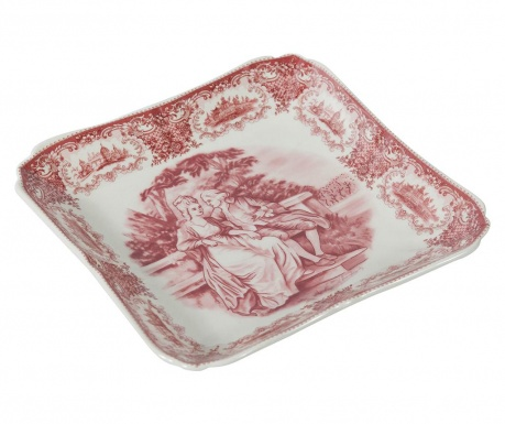 Platter Square Palace Red