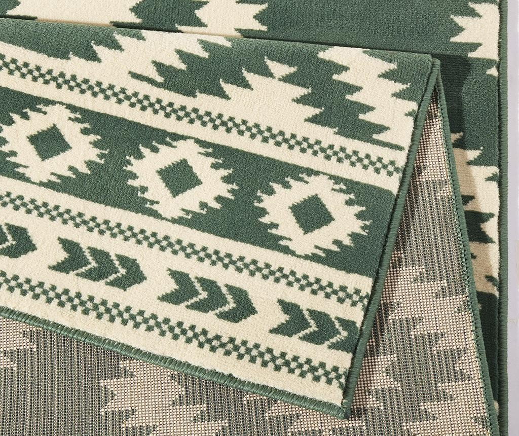 Covor Ethno Green and Cream 80x300 cm