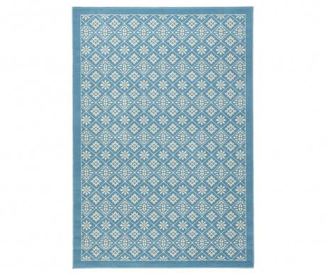 Preproga Tile Blue and Cream