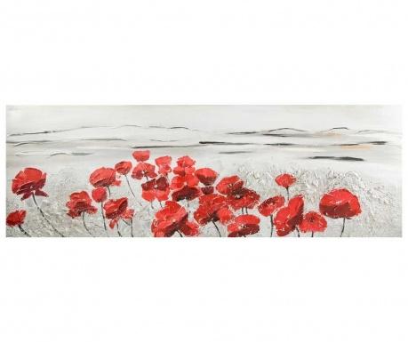 Obraz Red Poppy 50x150 cm