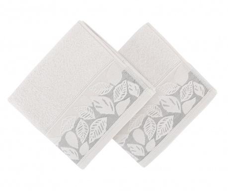 Zestaw 2 ręczników kąpielowych Yaprak Grey 50x90 cm