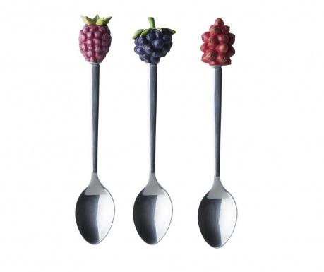 Zestaw 3 łyżeczek Berries